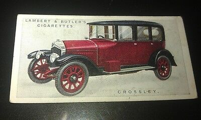 1922 CROSSLEY Lambert & Butler UK Cigarette Card