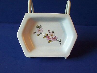 Vintage McCoy Pottery Dogwood Soap Dish USA Signed Murphy #313