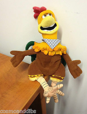 Chicken Run Rocky Rooster  Beanie Toy Dreamworks 2000