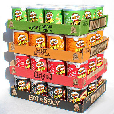 48 Pringles Chips 40g Original Hot Spicy Sweet Paprika Sour cream Kartoffelchips
