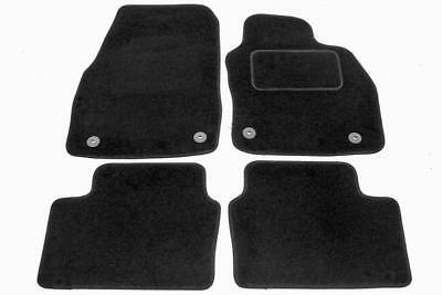 Fully Tailored Car Floor Mats - Opel ASTRA H 2004 to 2009, Black