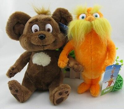 Dr. Seuss The Lorax Plush Toy Baby Gift set of 2 new