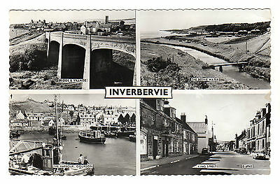 Inverbervie - Multiview Real Photo Postcard 1963