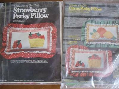 Yours Truly Strawberry & Citrus Perky Pillows Kits 1977 Applique Kits