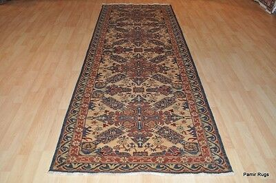 "Oriental rug 3' 8"" x 10' 5"" TOP QUALITY CAUCASIAN PERSIAN design. Hall runner"