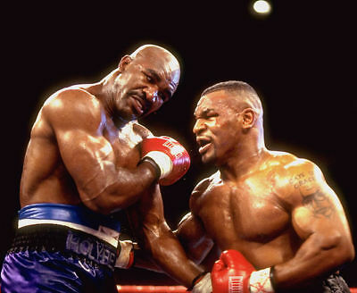 Mike Tyson Evander Holyfield  8 x 10  Photo picture 1