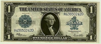 Silver Certificate Series 1923 $1,xf/au,large Size Note,very Nice Condition