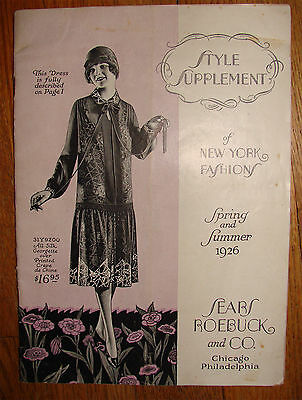 Vintage Antique Spring & Summer 1926 Sears Roebuck Co. Style Supplement Fashion