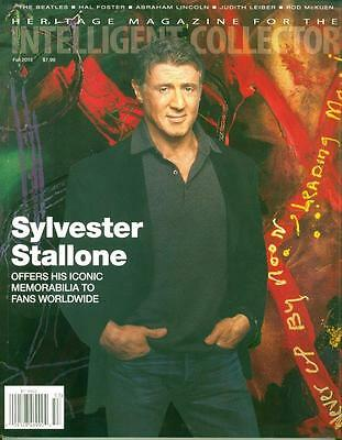 Heritage Intelligent Collector Magazine Sylvester Stallone Catalogue Fall 2015