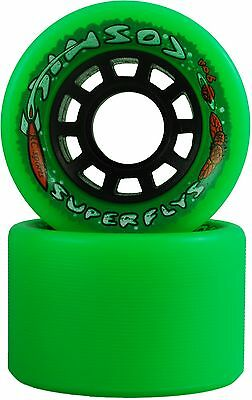 Quad Speed Roller Skate Wheels - Cosmic Super Fly Green - 90A Set Of 8