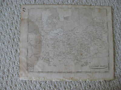 Fine Antique 1804 Prussia Germany Pomerania Arrowsmith & Lewis Copperplate Map