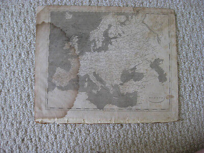 Antique 1804 Europe Arrowsmith & Lewis Copperplate Map Russia Germany France Nr