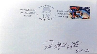 Jim Catfish Hunter New York Yankees Signed First Day Cover 5-8-68 Insc.