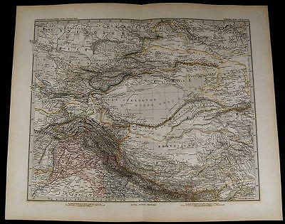 Inner Asia Tibet China Russia Northern India nice 1881 fine old detailed map