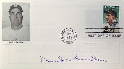 Duke Snider Brooklyn Dodgers Signed Gateway First Day Cover