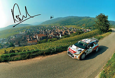 Kris MEEKE SIGNED British Rally Driver AUTOGRAPH 12 x8 Mexico Photo AFTAL COA