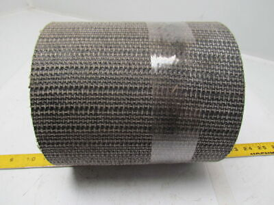 1 Ply Black Interwoven Polyester Brushed Conveyor Belt 14Ft X 8-1/4""