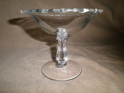 """Vintage Fostoria Century Clear Glass 5"""" Compote  Mid Century  Footed Dish"""
