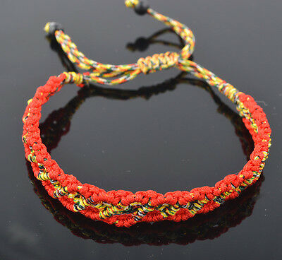 Chinese Style Lucky Feng Shui 5 Element Red String Bracelet 5 Color L1030