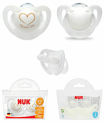 Nuk Genius Silicone Soother Bag 2pk Size 1 / Size 2