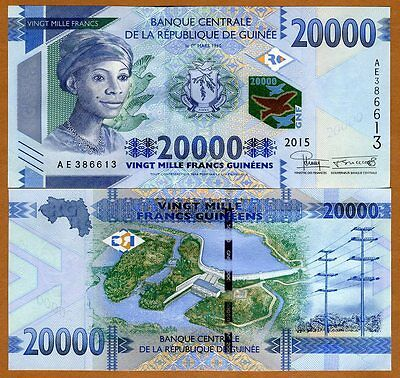 Guinea, 20000 (20,000) francs, 2015, Pick New, UNC > New Denomination
