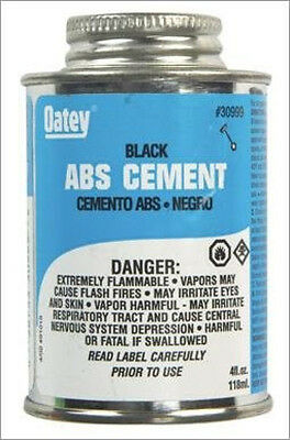 New Oatey 30999 ABS Medium Cement, Black, 4-Ounce *