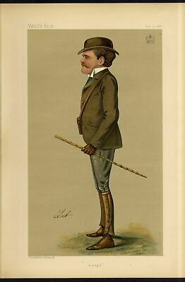 Lord Rodney Soldier 7Th Dragoon Guards Military School Vanity Fair Caricature