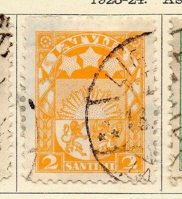 Latvia 1923-24 Early Issue Fine Used 2s. 170634