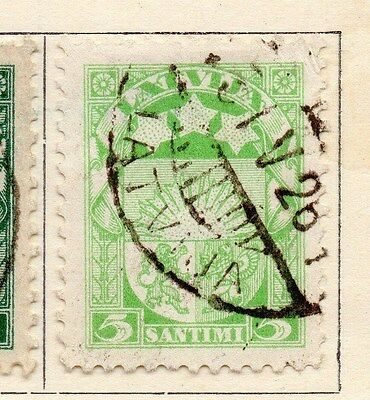 Latvia 1923-24 Early Issue Fine Used 5s. 170636
