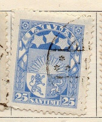 Latvia 1923-24 Early Issue Fine Used 25s. 170642