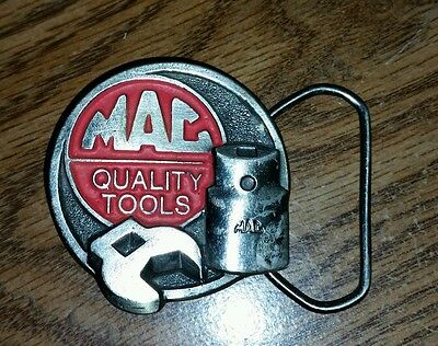 VINTAGE 1970s MAC QUALITY TOOLS COMPANY BELT BUCKLE 4TH IN SERIES RARE HTF NICE