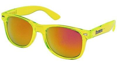 Brigada Eyewear LAWLESS Skateboard Sunglasses CLEAR LIME/RED