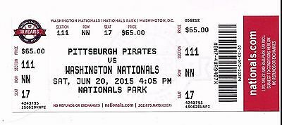 2015 WASHINGTON NATIONALS SEASON TICKET STUB PICK YOUR GAME BRYCE HARPER HR pt 2