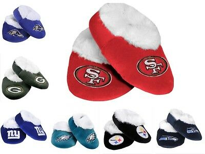NFL Football Baby Booties Shoe Slippers - Pick Team Size