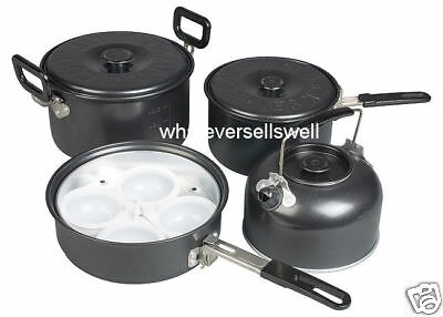 NON STICK CAMPING POTS PAN set cook set cookware frying gastro