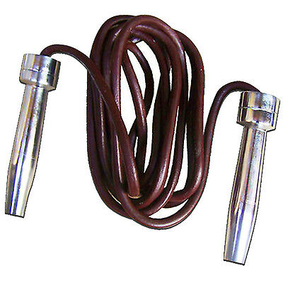 Metal Handle Leather Skipping Rope Jumping Speed Gym Exercise Workout ADJUSTABLE