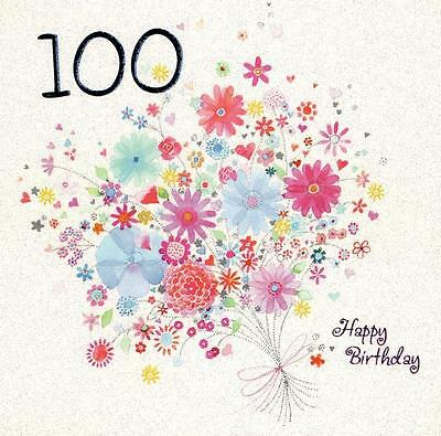 One Hundred Happy 100th Birthday Greeting Card Square Greetings Cards