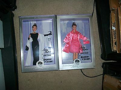 Lot 2 Audrey Hepburn Barbie Breakfast at Tiffany's & Holly Golightly Pink DRESS