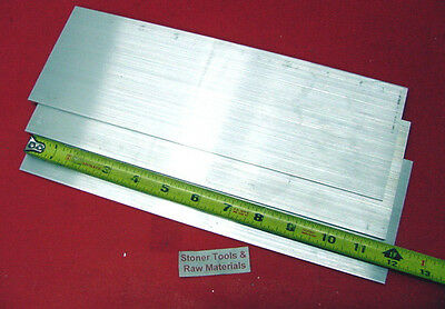 """3 pieces 1/4"""" X 3-1/2"""" ALUMINUM 6061 SOLID FLAT BAR 12"""" long T6 Plate Mill Stock"""