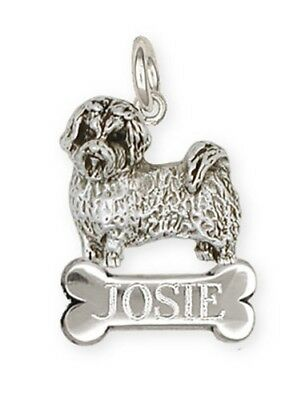 Personalized Sterling Silver Maltese Dog Charm Jewelry - ML4NC