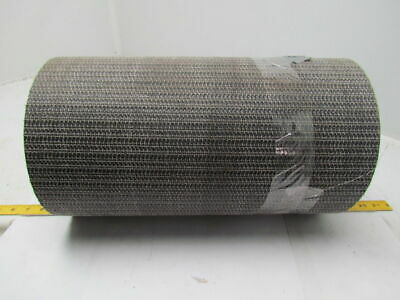 "1 Ply Black Interwoven Polyester Brushed Conveyor Belt 20Ft X 17"" 0.205"" Thick"