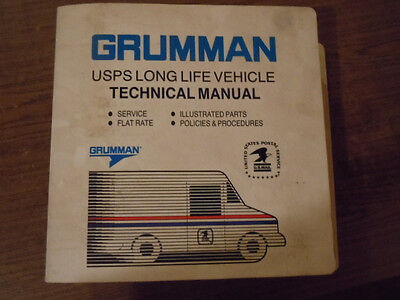1987 Grumman usps LLV Technical Manual Service and Parts BZ255