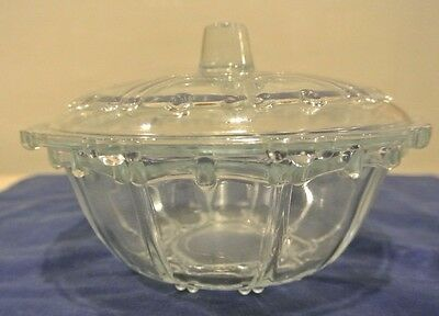Kig Indonesia Clear Glass Dish Candy With Lid, Trinket Box, Bowl with Lid, Table