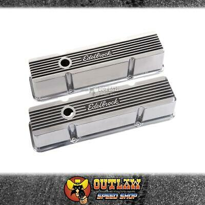 Edelbrock Elite Ii Series Valve Cover Suit Small Block Chev Tallprofile - Ed4263