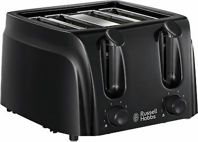 Russel Hobbs 4 Slice Wide Slot Toaster - Black 1480W - From Argos ebay
