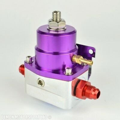 AN8 (JIC -8) Fuel Pressure Regulator Purple With 8AN Fittings 7 Bar 1:1