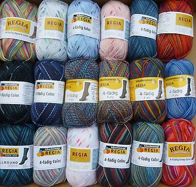 Regia Colour~ 4 Ply multicoloured sock yarn x 50g ~ Choose Colour + FREE Pattern