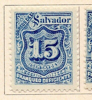 Salvador 1897 Early Timbres-Taxe Issue Fine Mint Hinged 15c. 170513