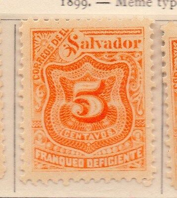 Salvador 1899 Early Timbres-Taxe Issue Fine Mint Hinged 5c. 170527