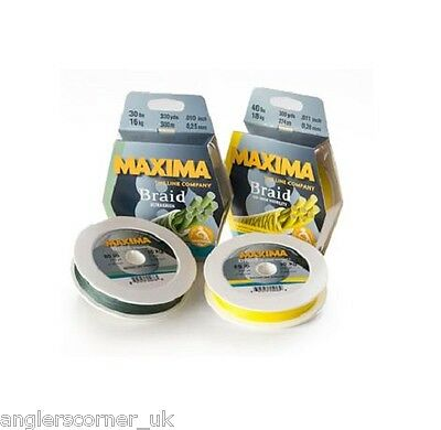 Maxima Braid / Green or Yellow / All Sizes /  Fishing Line